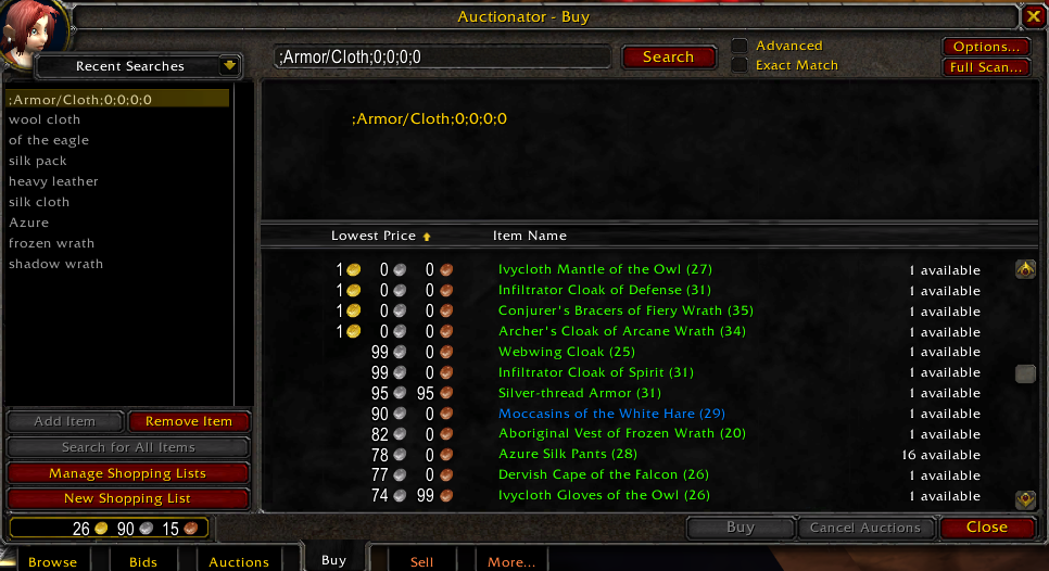 Auctionator Addon For Classic Wow 1 13