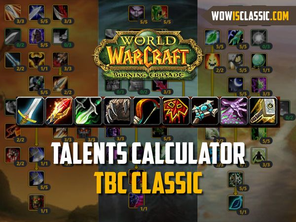 TBC Classic talent calculator is available!