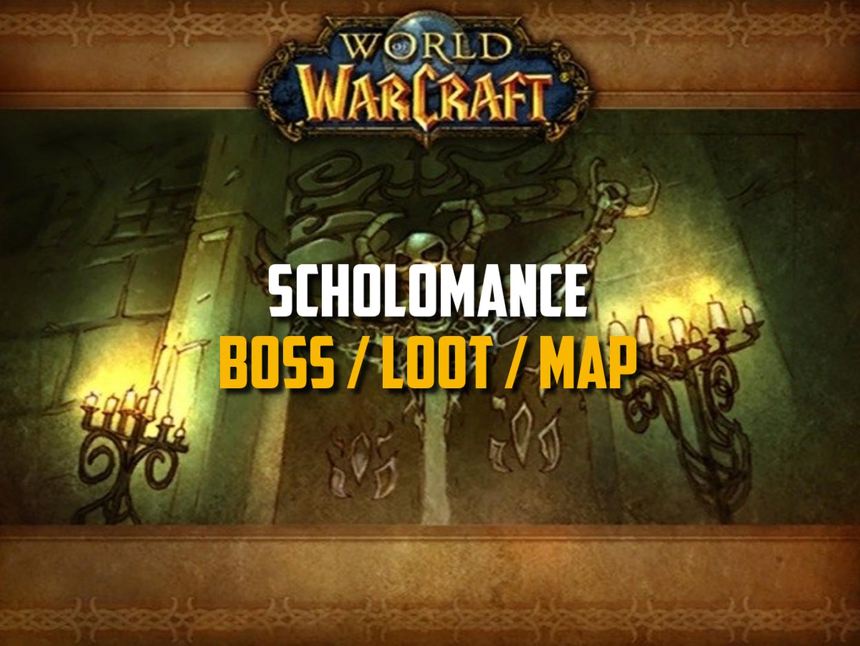 Classic WoW - Scholomance Guide (Boss, Loot, Map, Quest)