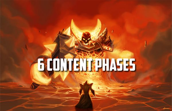 Classic WoW - 6 content phases confirmed